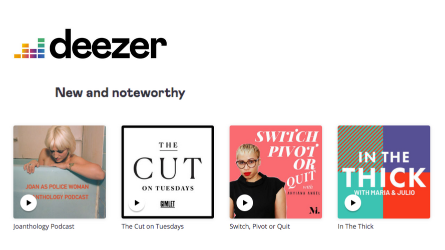 Deezer Feature of Switch, Pivot or Quit