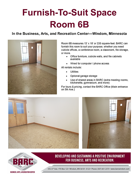 BARC Office suite available for rent 6B.