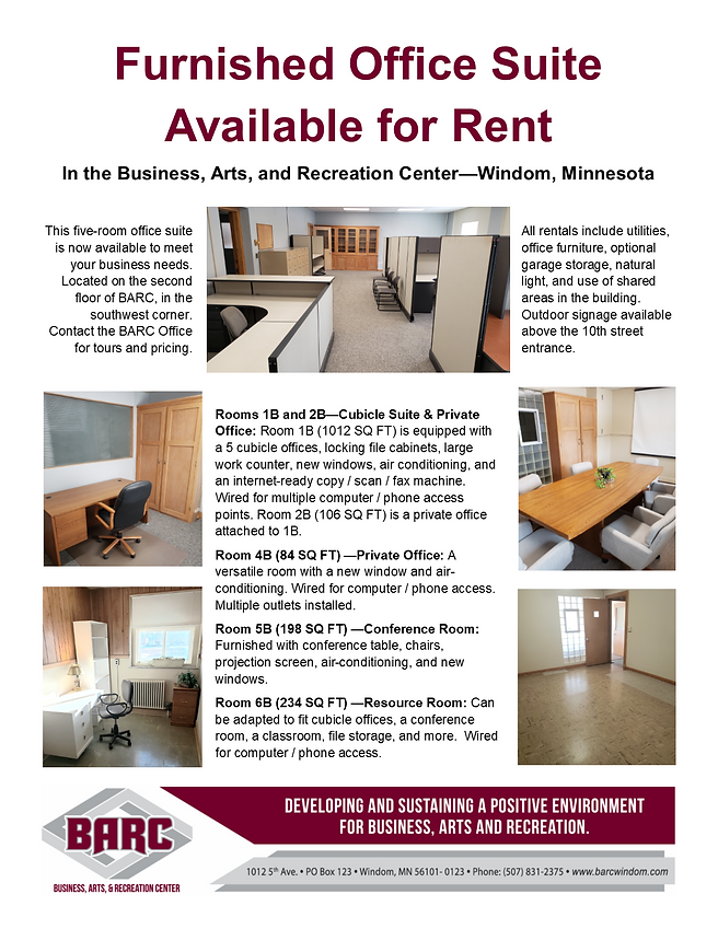 BARC Office suite available for rent fro