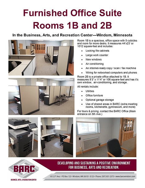BARC Office suite available for rent 1B