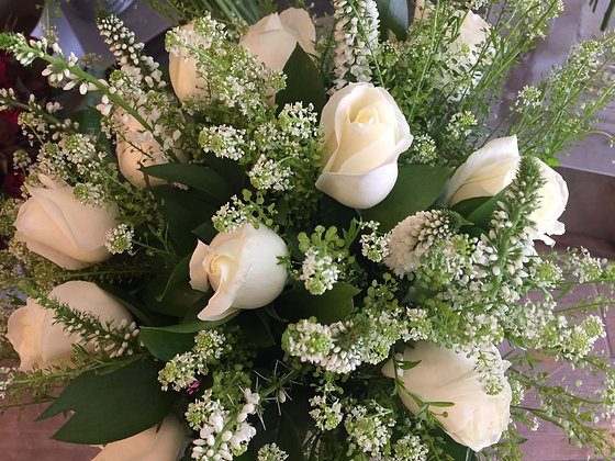 Bouquet : White Roses