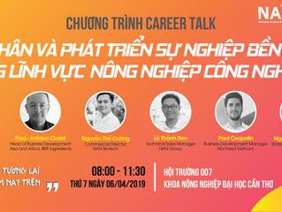 Chương trình Career Talk tại trường đại học Nông Lâm TP.HCM và đại học Cần Thơ