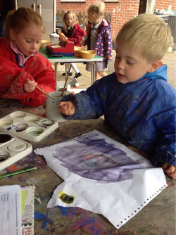Exploring paint and colours