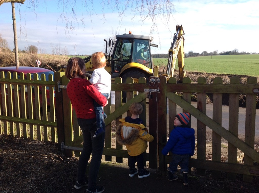 Watching the digger