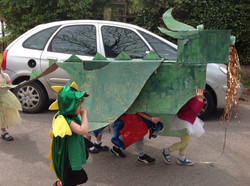 Our green dragon parade to St George' Ch