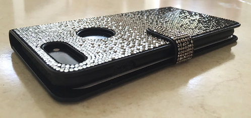 Crystallized Faded Black Wallet Case