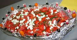 Salade tomate feta ciboulette