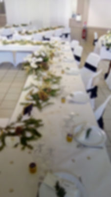 Table de mariage déco hiver
