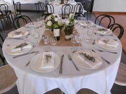 table ronde déco florale