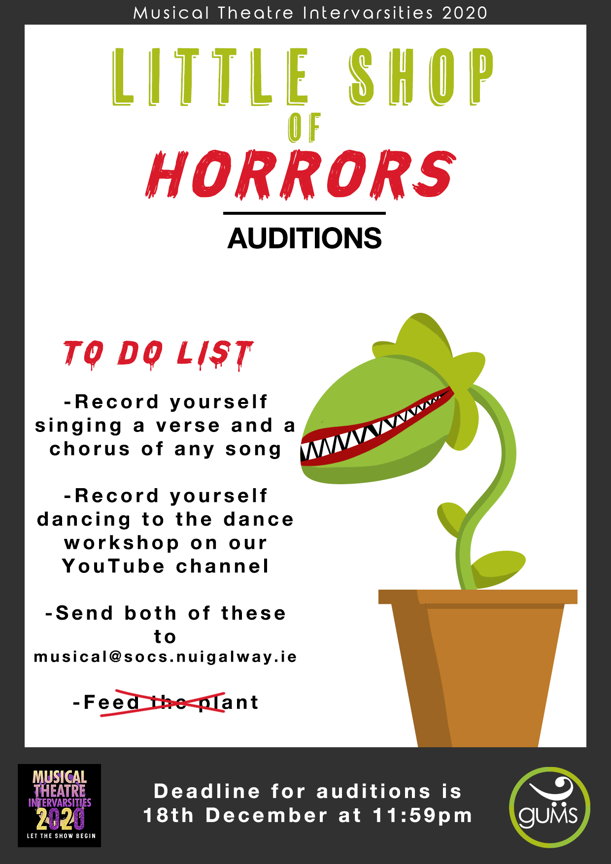Virtual Inters Auditions