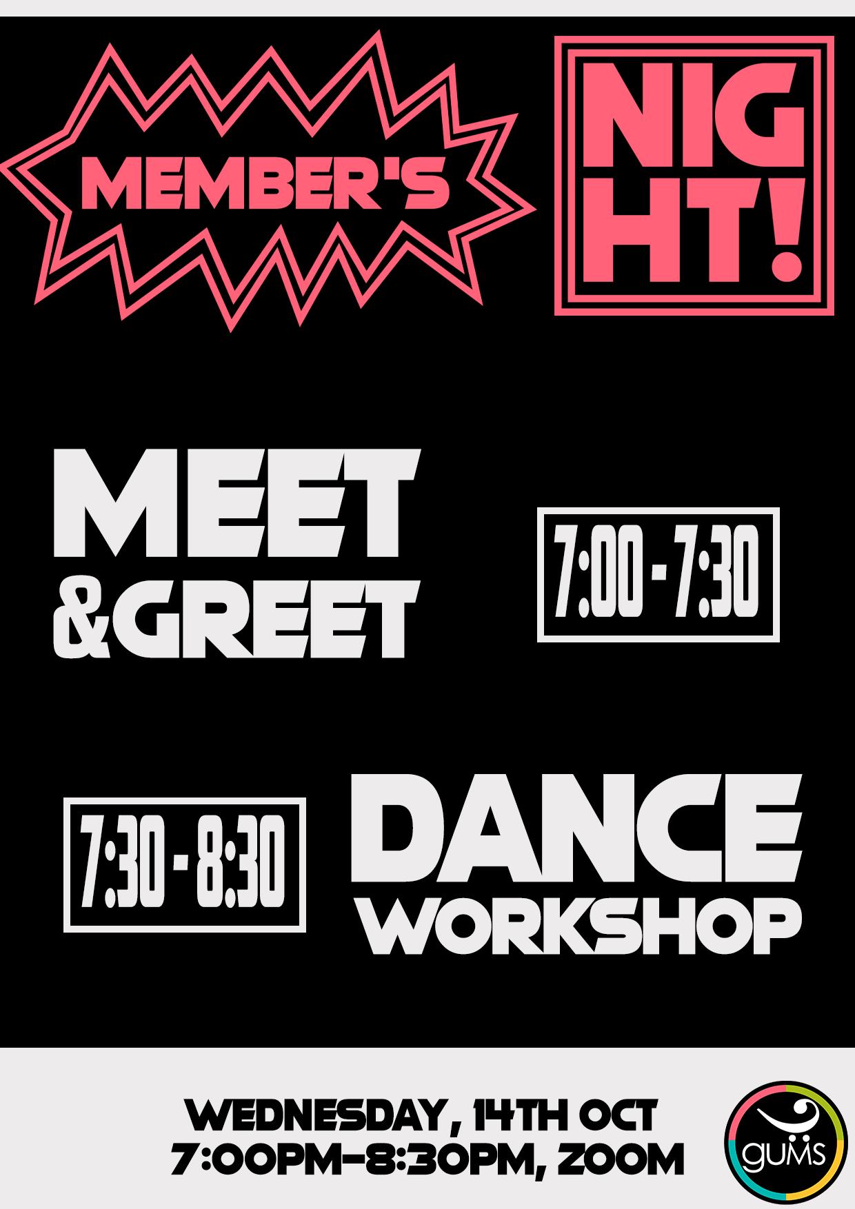 Members Night Poster