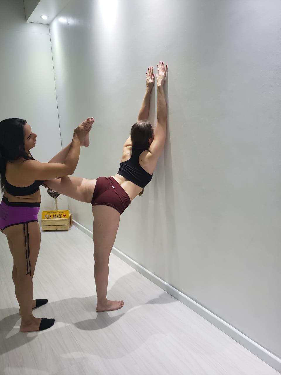 com a marovilhosa da Malu treinando o meu flex