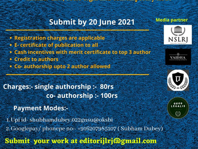 IJLRJ FIRST MANUSCRIPT WRITING COMPETITION
