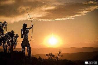 Índia Imembuí - pôr do sol