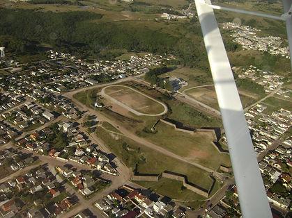Foto aérea Forte Dom Pedro II - Caçapava do Sul