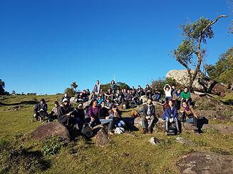 Alunos - Campo geologia na Chácara do Forte