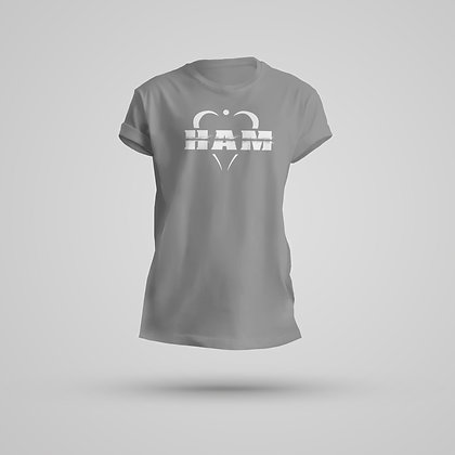Women's Gray Large Logo Tee