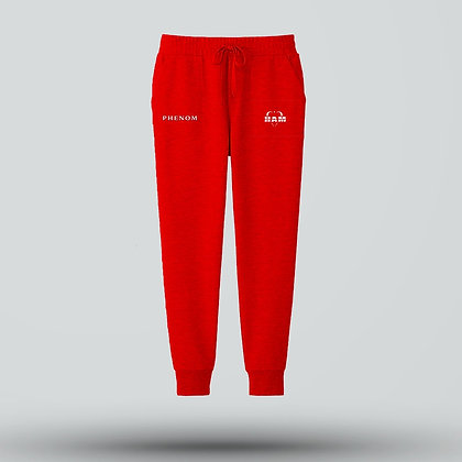 Phenom Embroidered Red Joggers