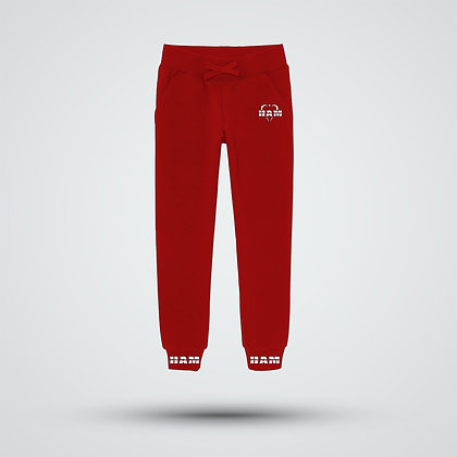 Women's Red Logo Joggers