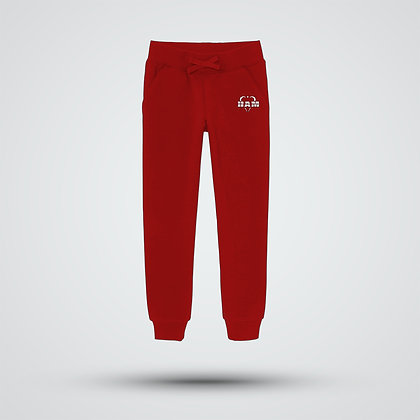 Men's Embroidered Red Logo Joggers