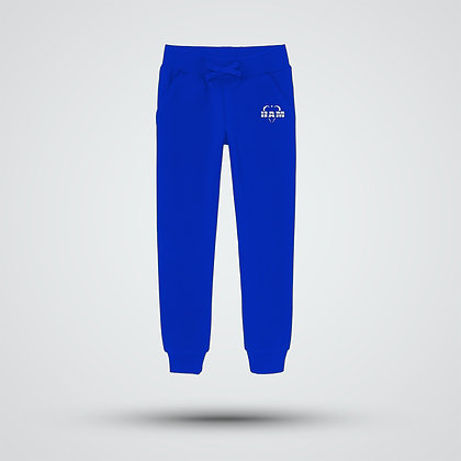 Men's Embroidered Blue Logo Joggers