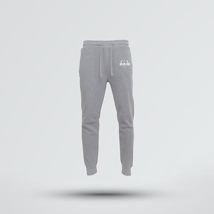 Men's Embroidered Gray Logo Joggers