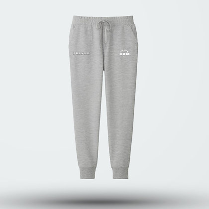 Phenom Embroidered Gray Joggers