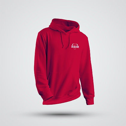 Women's Red Embroidered HAM Logo Hoodie