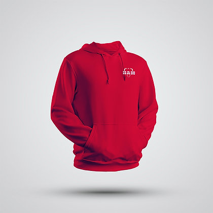 Men's Red Embroidered HAM Hoodie
