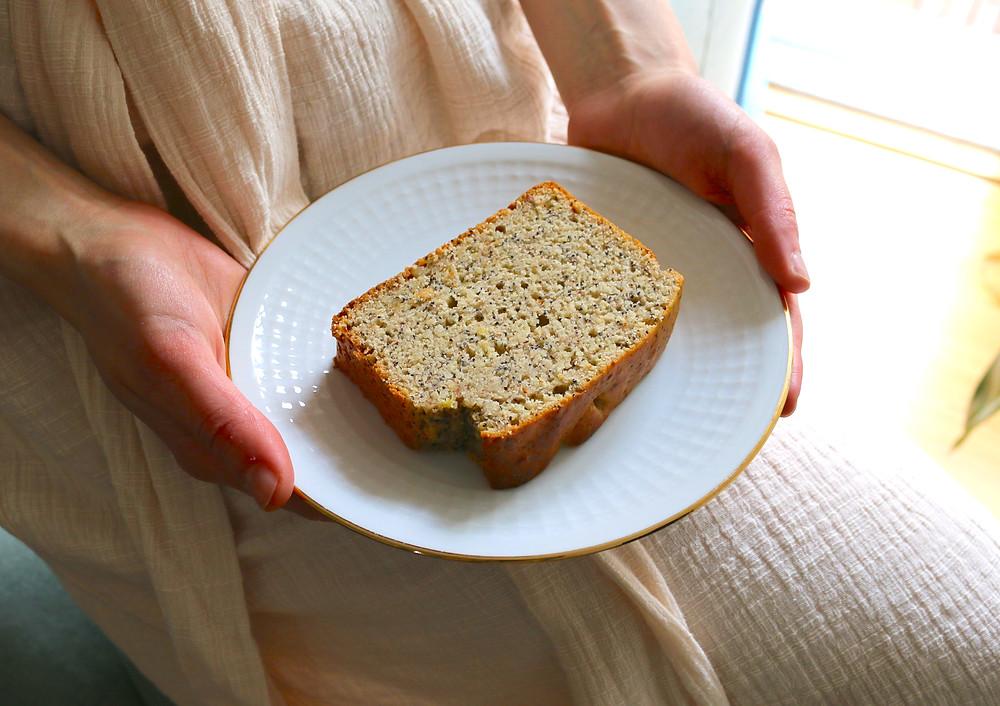 Cytrynowy chlebek z makiem (wegańskie, bez cukru rafinowanego)