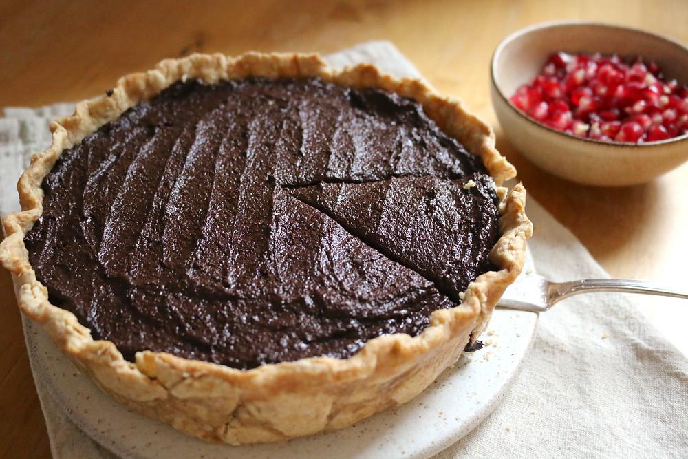 Tarta czekoladowa (wegańskie, bez cukru rafinowanego)