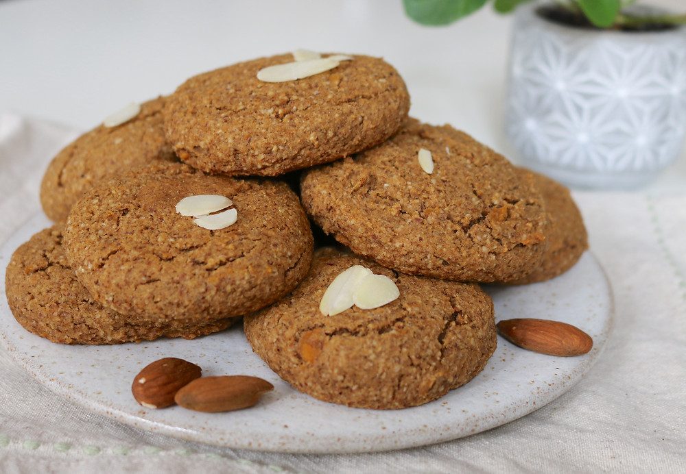 Przepis na Migdałowe ciasteczka z batatem, wegańskie, bezglutenowe, bez cukru rafinowanego