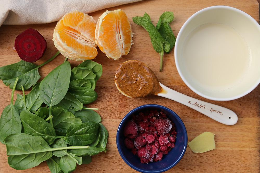 Koktajl napędzający odporność (wegańskie, bezglutenowe, bez cukru rafinowanego)