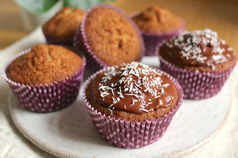 Przepis na Waniliowe cupcakes (wegańskie, bez cukru rafinowanego)
