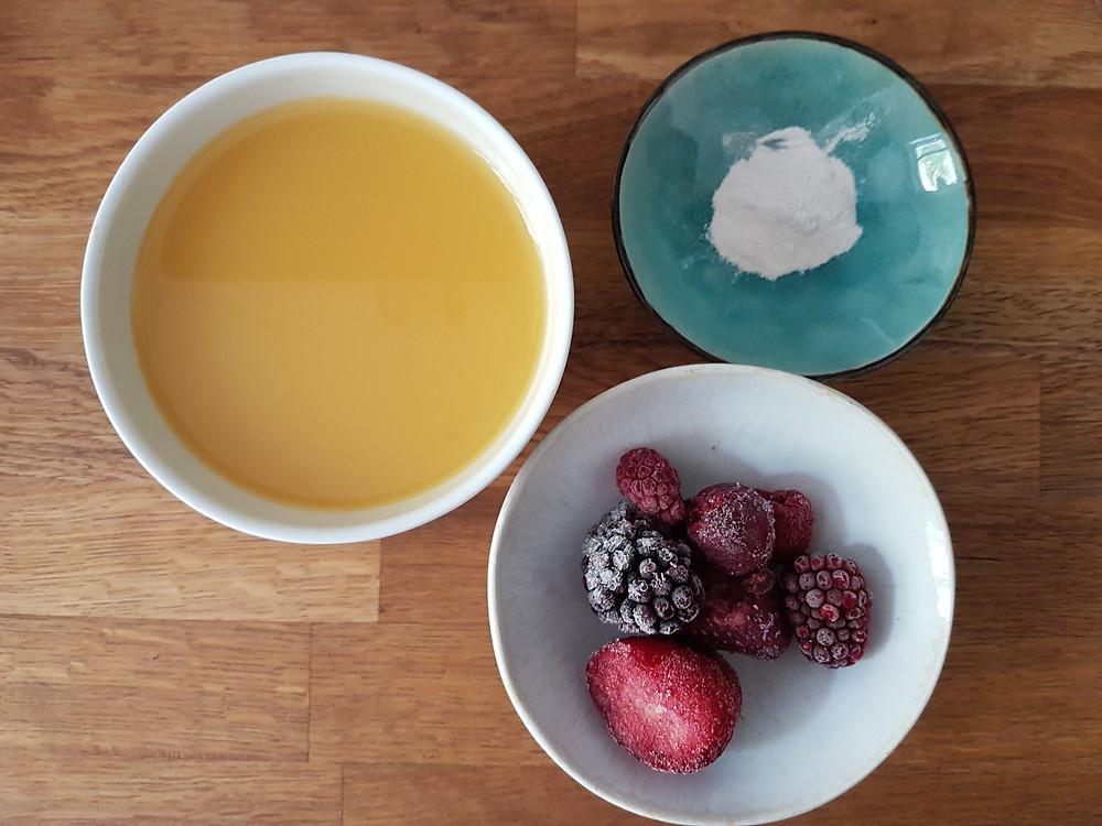 Owocowa zupa (wegańska, bezglutenowa, bez cukru rafinowanego)
