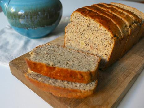 Cytrynowy chlebek z makiem (wegański, bez cukru rafinowanego)