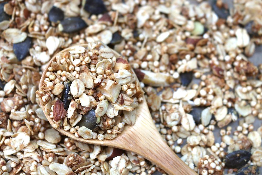 Przepis na śniadaniową granolę podwójnie migdałową