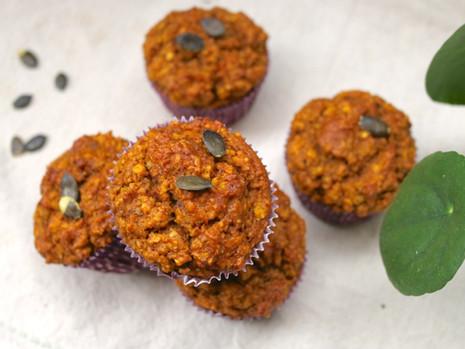 Dyniowe muffinki (wegańskie, bez cukru rafinowanego)