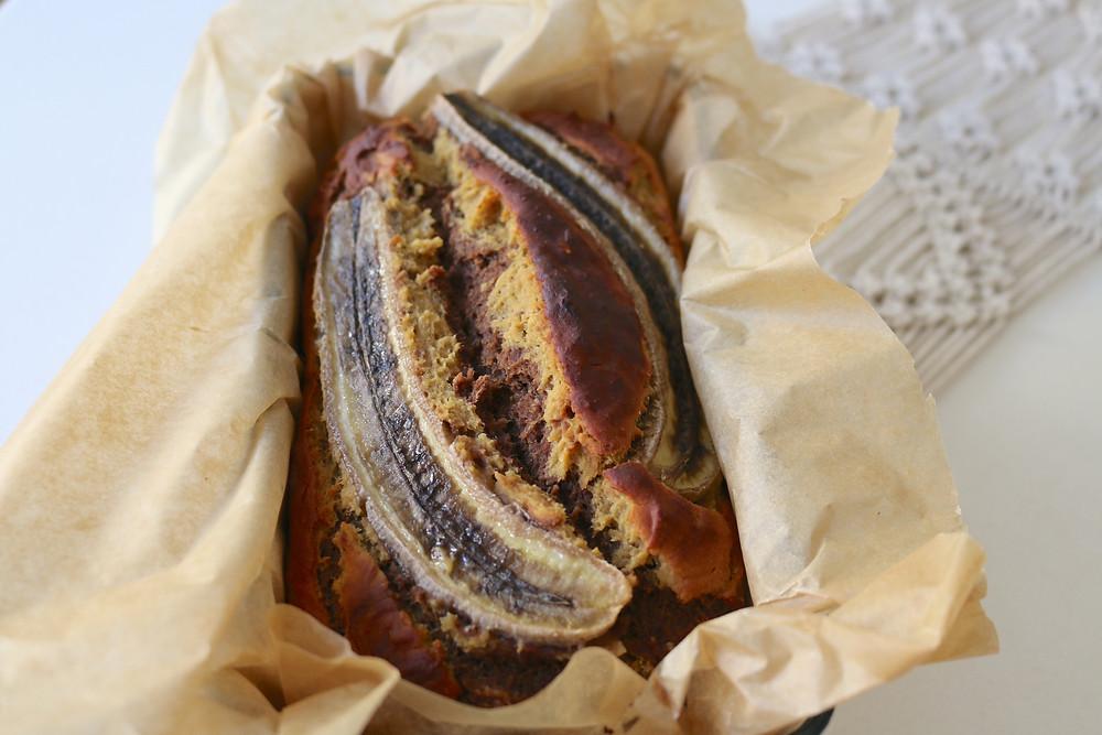 Chlebek bananowy z cieciorką (wegański, bezglutenowy, bez cukru rafinowanego)