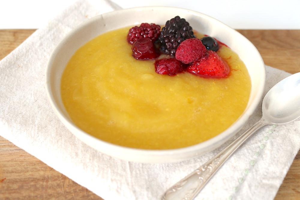 Przepis na Owocową zupę (wegańska, bezglutenowa, bez cukru rafinowanego)