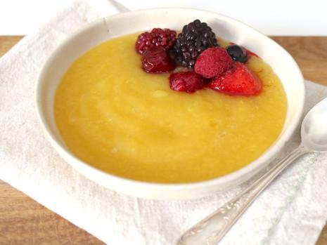 Owocowa zupa (wegańska, bezglutenowa, bez cukru rafinowanego) + jak gotować z agarem?