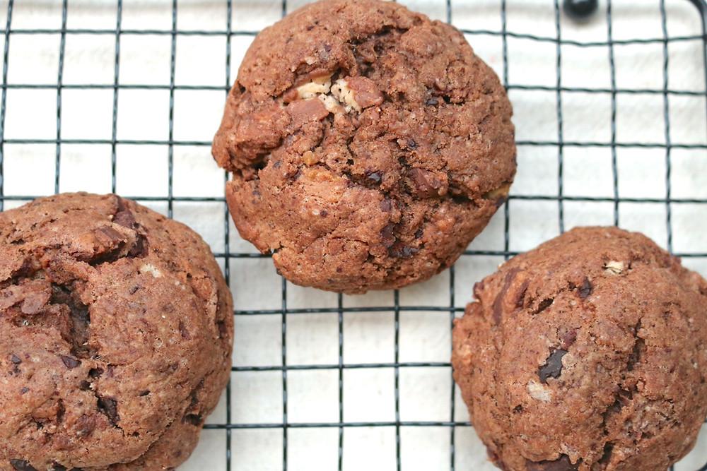 Proste ciasteczka czekoladowe (wegańskie, bez cukru rafinowanego)