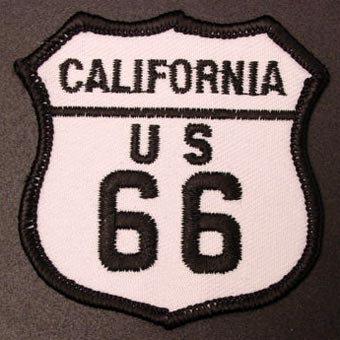 ルート66刺繍エンブレム─California
