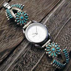 銘:VSJ ニードルポイントの妙技!!「ターコイズのティアドロップ腕時計」