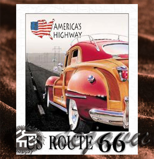 Tin Sign「America's Highway」
