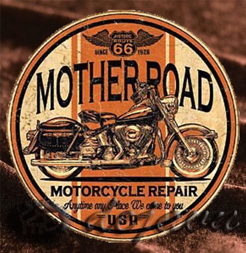 Tin Sign「Mother Road Circle」