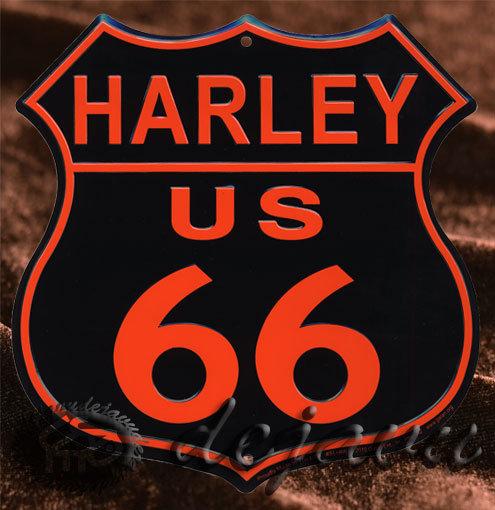 Tin Sign「Harley 黒」