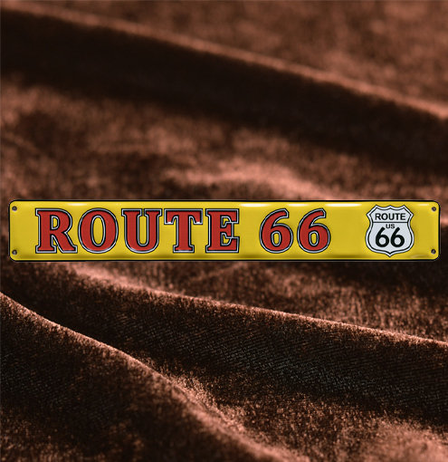 Route 66エンボスロングプレートイエロー