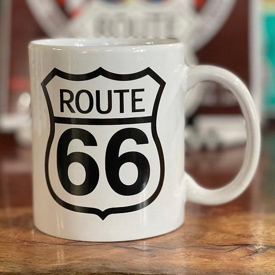ルート66サイン入りマグカップ