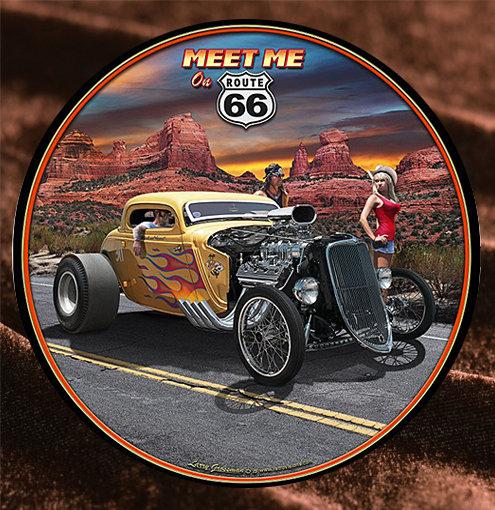 Tin Sign「Arizona Hot Rod」